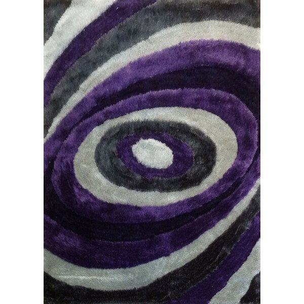 Sheraton Hand-Tufted Gray/Purple Area Rug by Orren Ellis