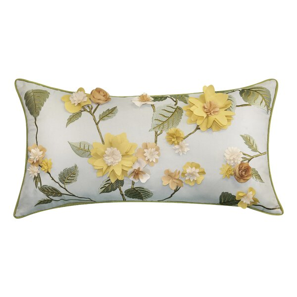 Keith Delightful Decorative Indoor/Outdoor Floral Lumbar Pillow By Rosalind Wheeler