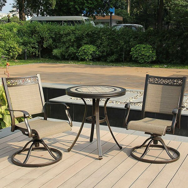 Gerry 3 Piece Bistro Set by Fleur De Lis Living
