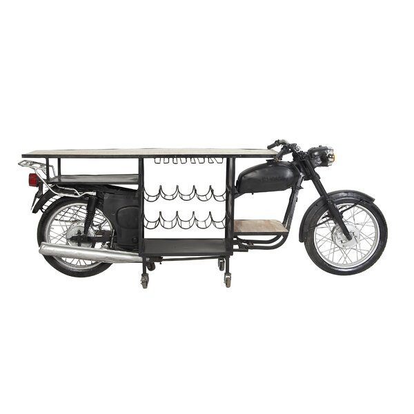 Elsha Eclectic Motorbike Bar Cart by 17 Stories
