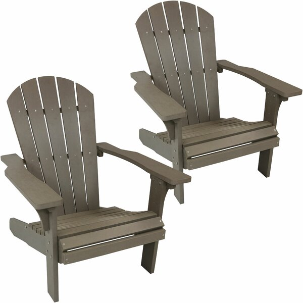 Audio All-Weather Plastic Adirondack Chair (Set of 2) by Millwood Pines