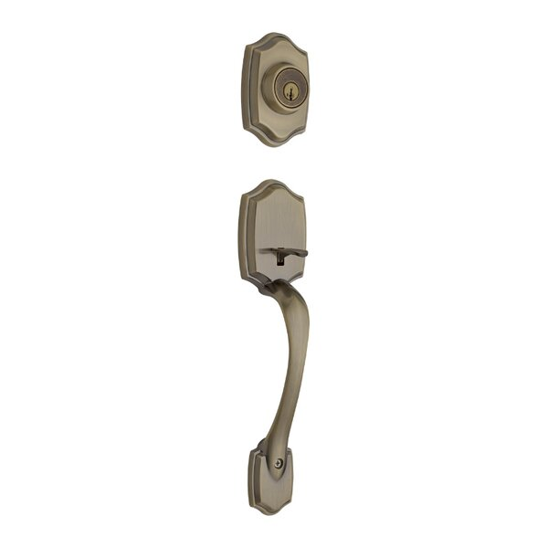 Belleview Double Cylinder Entrance Handleset with Smartkey, Exterior Handle Only by Kwikset