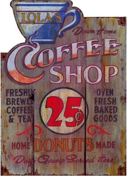 Coffee Shop Vintage Advertisement Plaque by Winston Porter