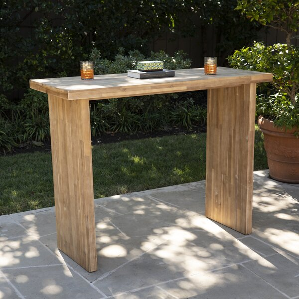 Venallo Wooden Bar Table by Foundry Select
