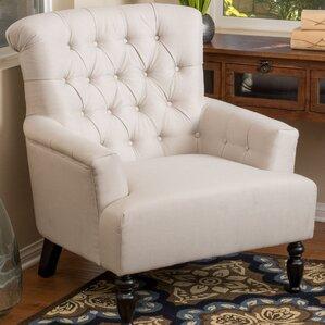 verona tufted fabric armchair