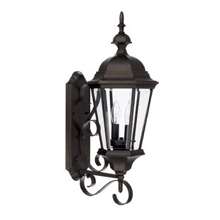 Best Reviews Hounsfield 2-Light Outdoor Sconce By Alcott Hill