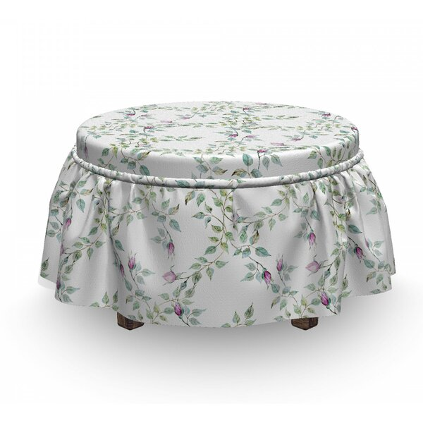 Twiggy Rose Branches Ottoman Slipcover (Set Of 2) By East Urban Home