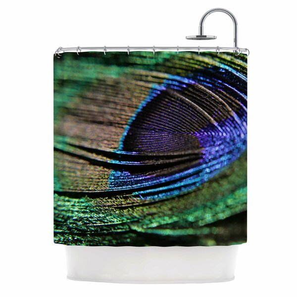 Angie Turner Peacock Feather Shower Curtain by East Urban Home