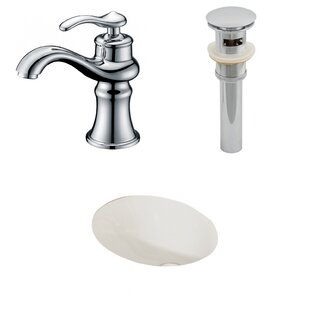 Buy luxury Ceramic Oval Undermount Bathroom Sink with Faucet and Overflow ByAmerican Imaginations