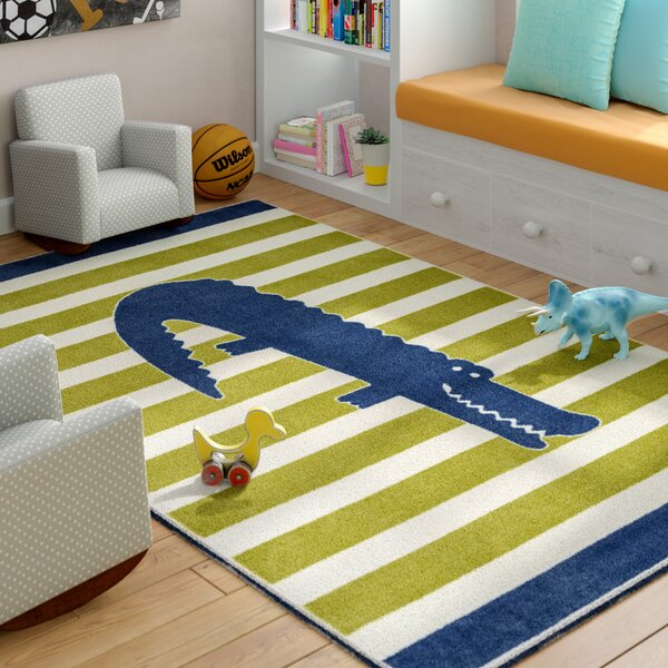 Heimbach Friendly Alligator Area Rug by Viv + Rae