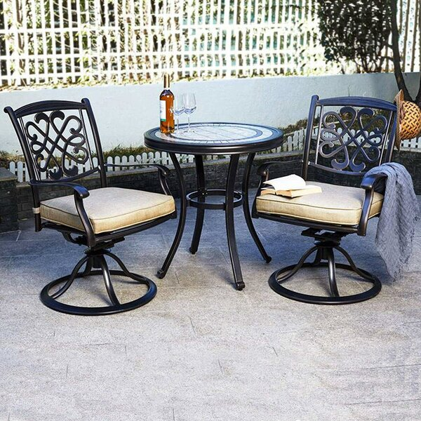 Joanie 3 Piece Bistro Set by Fleur De Lis Living