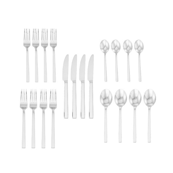 Lawhead 20-Piece 18/10 Stainless Steel Flatware Set by Orren Ellis