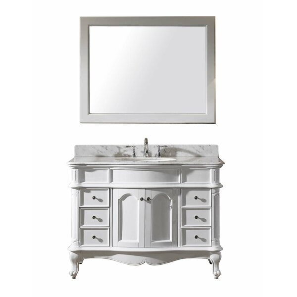 Zelaya 48 Single Bathroom Vanity Set with Mirror by House of Hampton