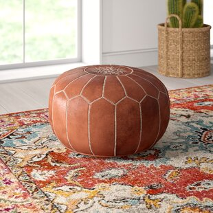 Surprising Carolos Leather Pouf Alphanode Cool Chair Designs And Ideas Alphanodeonline