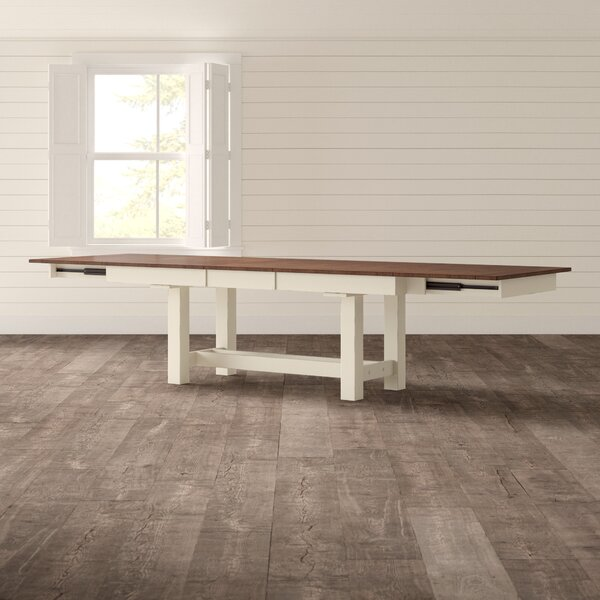 Aguero Extendable Solid Wood Dining Table by Canora Grey Canora Grey