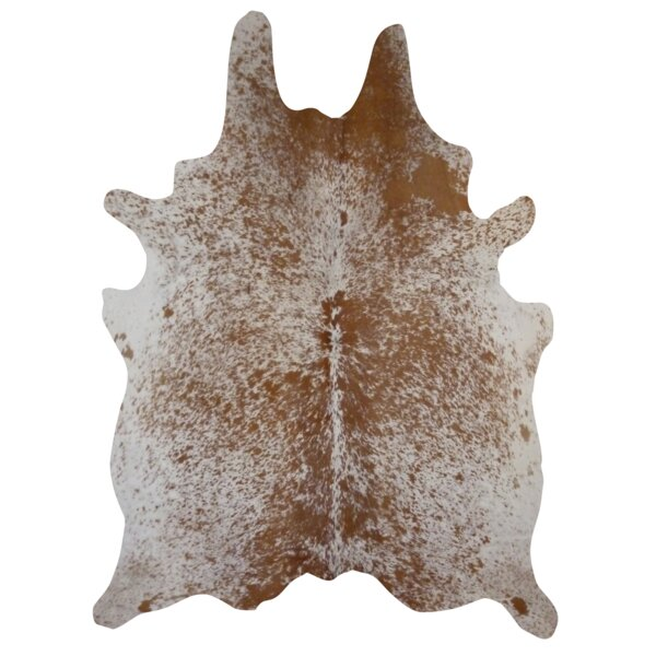 Natural Cowhide Salt/Pepper Hand-Woven Brown Area Rug by Deco Hides