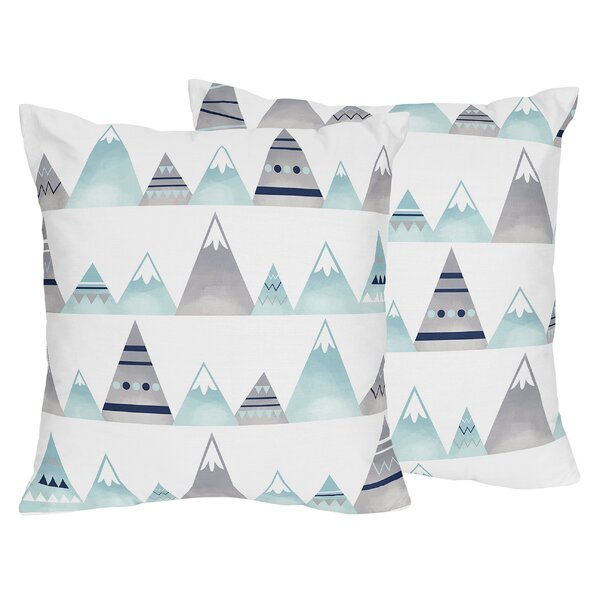 Mountains Indoor/Outdoor Decorative Accent Throw Pillow (Set of 2) by Sweet Jojo Designs