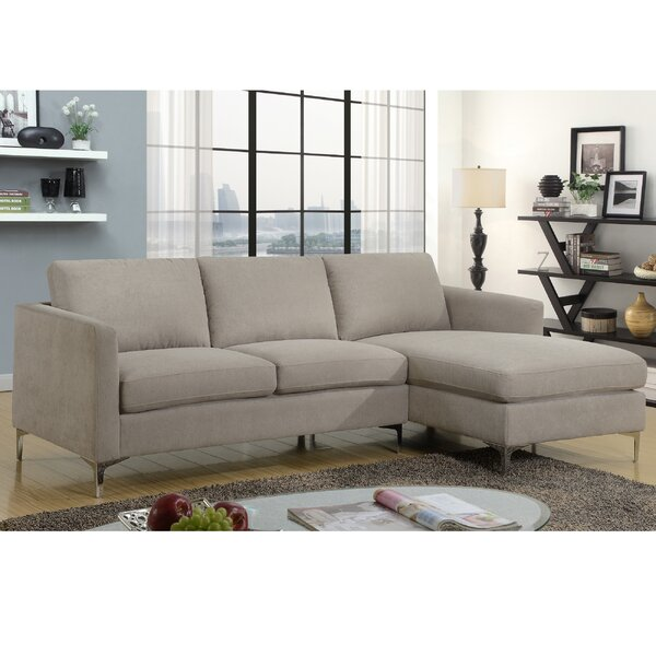 Collum 2 Piece Modern Sectional Set by Wrought Studio