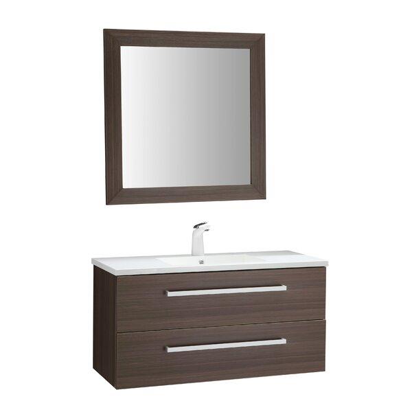 Engram 39 Single Bathroom Vanity Set with Mirror by Orren Ellis