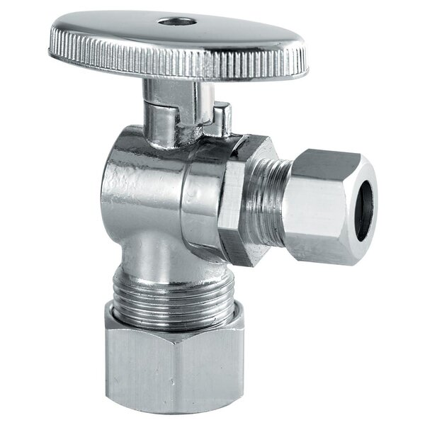 0.625 x 0.375 Low Lead Quarter Turn Angle Valve by Plumb Craft