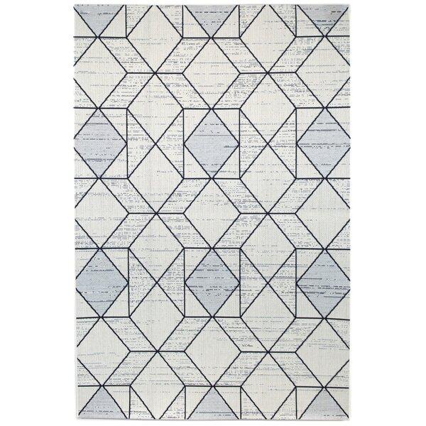 Anoka Geometric Gray Indoor/Outdoor Area Rug