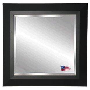 Reviews Square Wood Framed Wall Mirror ByLatitude Run