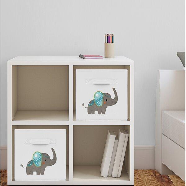 Elephant Fabric Storage Cube by Sweet Jojo Designs