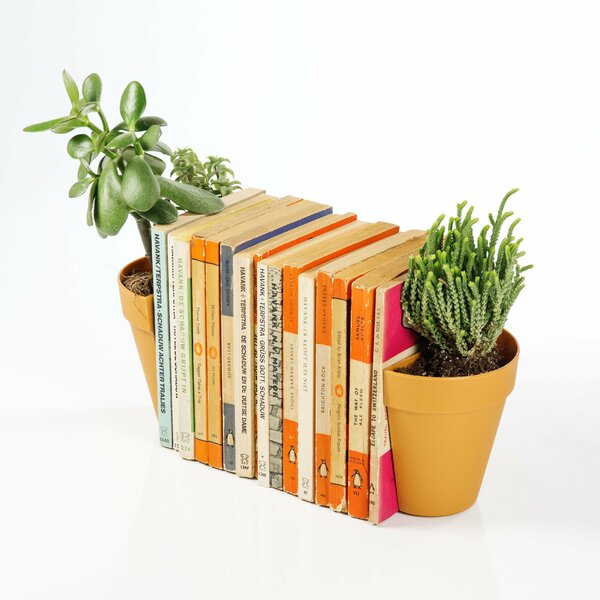 Plant Pot Bookends (Set of 2) by suck UK