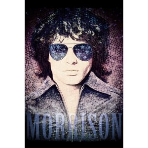 'Jim Morrison Psychedelic Poster' Vintage Advertisement on Canvas by East Urban Home