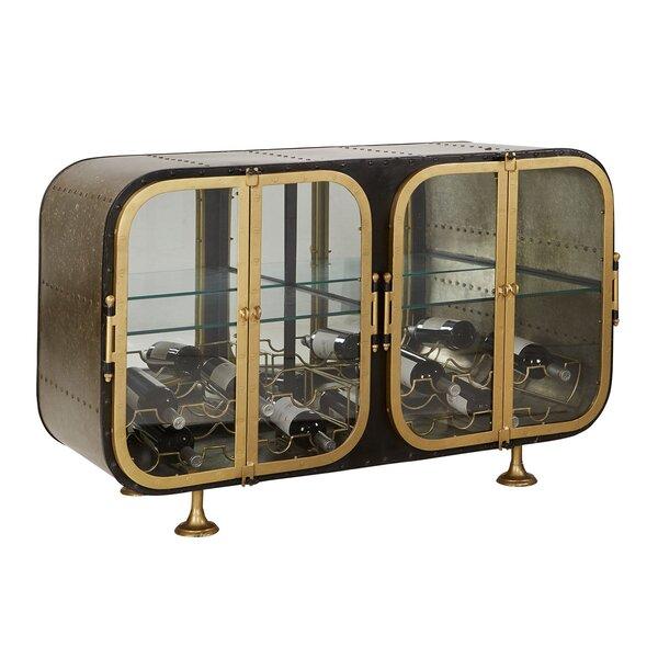 4 Door Mirrored Accent Cabinet