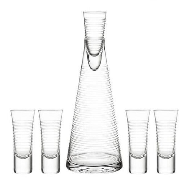 Pacifica 6 Piece Vodka Set by Qualia Glass