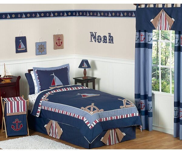 Nautical Nights 4 Piece Twin Comforter Set by Sweet Jojo Designs