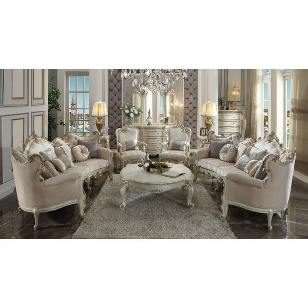Caiden 3 Piece Configurable Living Room Set by Rosdorf Park