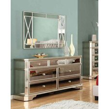 Borghese 7 Drawer Dresser with Mirror by BestMasterFurniture