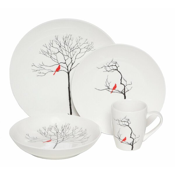 Melisa Birds 16 Piece Dinnerware, Service for 4 by Winston Porter