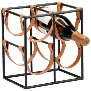 Small Brighton 4 Bottle Tabletop Wine Rack by Cyan Design