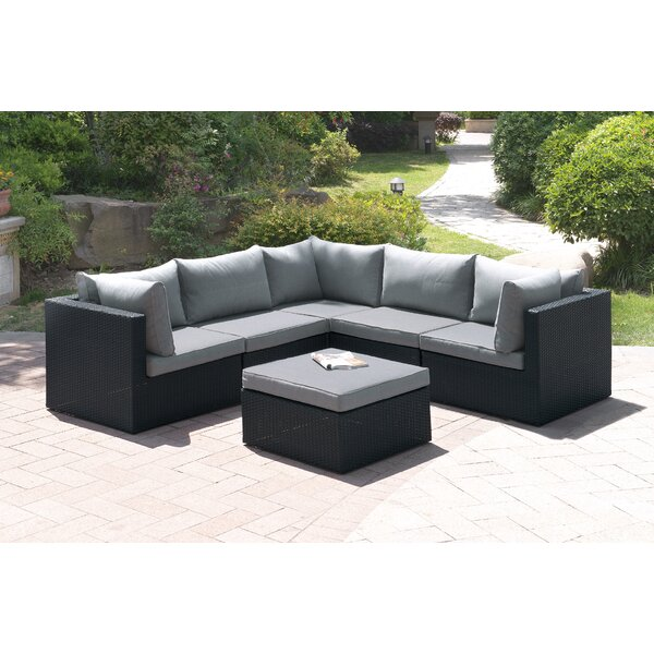 Landose 6 Piece Sectional Seating Group with Cushion by Latitude Run