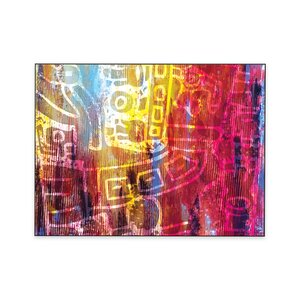 'Aztec Collage One' by Michael Conejo Framed Graphic Art by Print Art Company