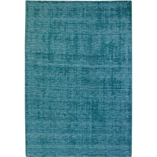 Loring Hand-Tufted Teal Area Rug by Red Barrel Studio