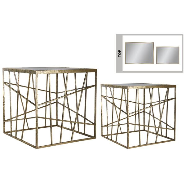 Colgan Metal Square 2 Piece Nesting Tables by Mercer41