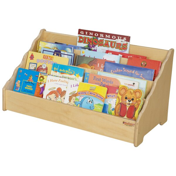 4 Compartment Book Display by Wood Designs