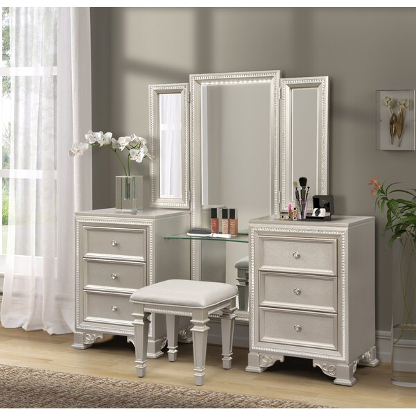 Tiffany Solid Wood Vanity With Mirror By Fairfax Home Collections