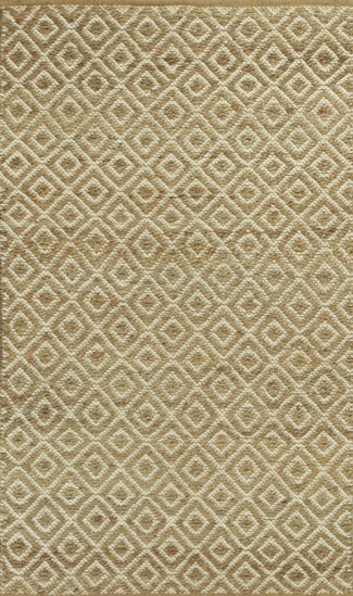 Lenore Sand Diamonds Hand-Woven Area Rug by Laurel Foundry Modern Farmhouse