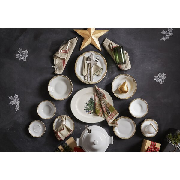 Catherine 24 Piece Porcelain Dinnerware Set, Service for 4 by Lorren Home Trends