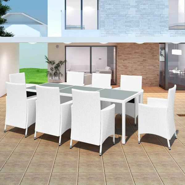 Alanis 9 Piece Dining Set with Cushions by Brayden Studio