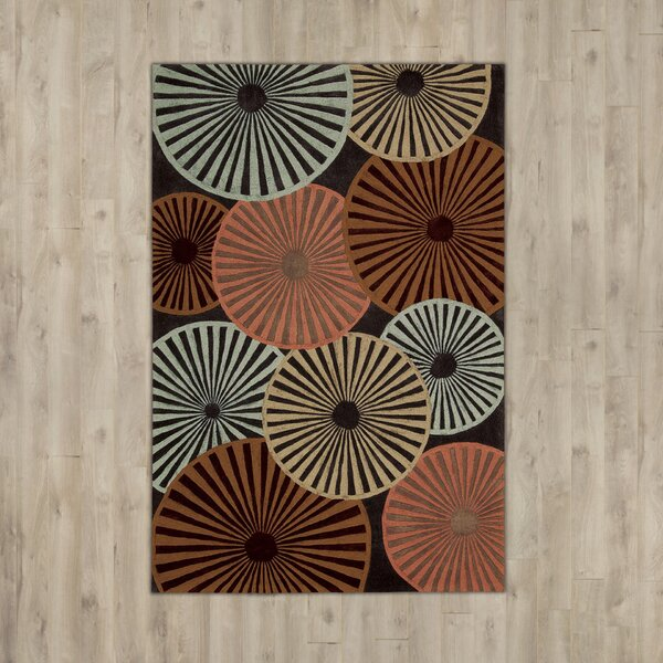 Desousa Black/Brown/Blue Outdoor Area Rug by Ebern Designs