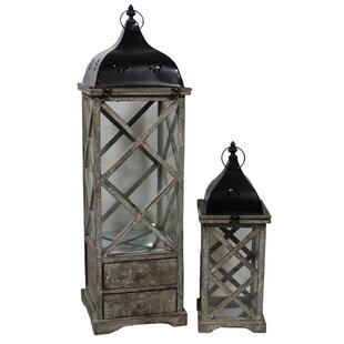 2-Piece Bailey Lantern Set By ESSENTIAL DÉCOR & BEYOND, INC Outdoor Lighting