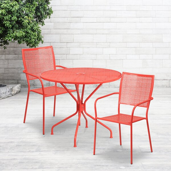 Gerda 3 Piece Dining Set by Zipcode Design