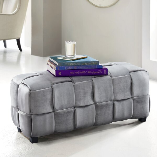 Cutlip Cube Ottoman by Ebern Designs