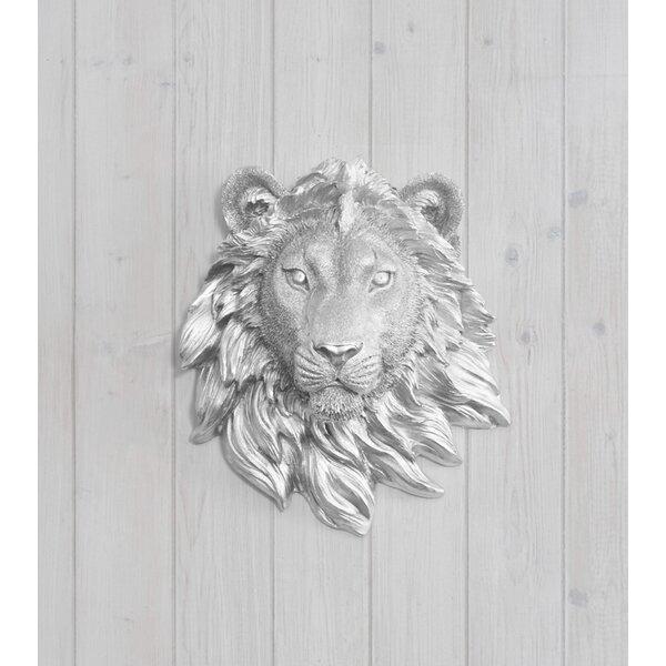Saharan Faux Taxidermy Mini Lion Head Wall Décor by Wall Charmers